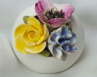 1960s Vintage Sandford Bone China Flowers Made in England
