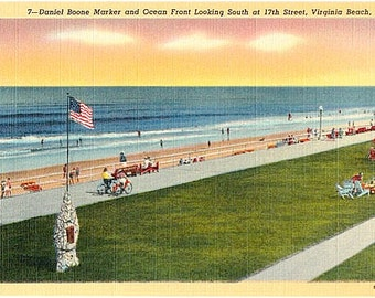 Vintage Virginia Postcard - Virginia Beach (Unused)