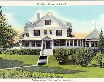 Vintage Martha's Vineyard Postcard - The Tashmoo Inn, Vineyard Haven (Unused)