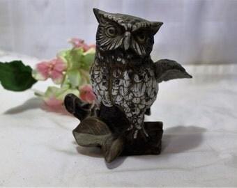 Homco Owl Figurine, 1980s