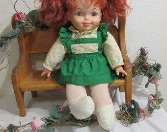 Northern Tissue Doll 16 Inch Red Hair and Freckles from 1988 Irish Lass