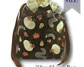 "SALE * Woodland Autumn - Limited Edition ""One Skein"" Project Bag for Knitting, Crochet, or Embroidery"