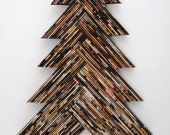 holiday TREE - neutral colored wall art - made from recycled magazines, Christmas, unique, home decor, interior design, unique, handmade