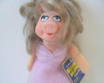 Vintage Miss Piggy Bean Bag Muppet Toy Sesame Street