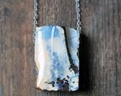 Raw White Opal Pendant