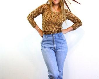 Vintage 70s High Waisted Blue Jeans Light Wash Denim Boot Cut Wide Leg Trousers Western Side Pocket Slacks Hot Foxy 1970s Faded Denim Pants