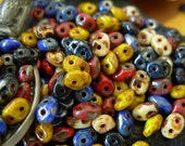Assorted 2.5x5mm Czech Picasso Superduo 2 Hole Glass Seed Beads (20g) #1BSD