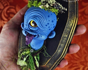 SALE! Haru - yokai Hitotsume Kozo art toy resin figure toy collectible fantasy creature magical Japanese mythology folklore cyclop monster