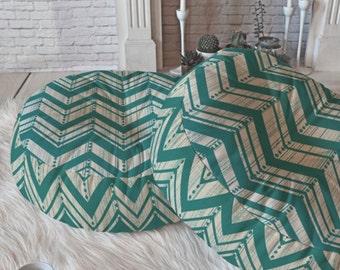 Chevron Floor Pillow // Round and Square Sizes // Modern Living // Dorm Decor // Home Decor // Teal // Weathered Chevron Design // Cushion