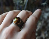 Fire Rise Ring No. 8 with Mexican Fire Agate size 6.5