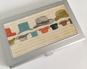 Business Card Holder - Various Hats