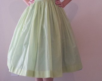 Vintage Sheer Green Party Dress