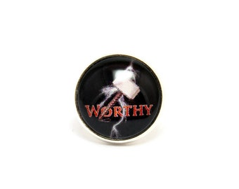 Worthy Tie Tack, Superhero Lapel Pin, Superhero Pin, Geek Tie Tack, Geek Pin