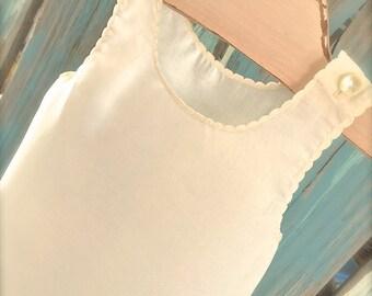 Basic Full Length Slip Vintage Heirloom Ivory, Blue, Pink or White for Juvie Moon Design Dresses