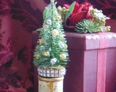 Table Decoration Spool and Bottle Brush Tree SALE