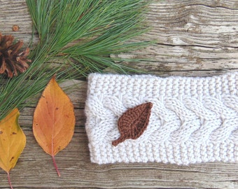 SALE - Knit Headband, Women Headband, Oatmeal Headband, Winter Headband, Ear Warmer, Knitted Headband Gift Idea, Winter Accessories