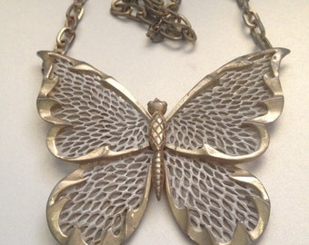 Huge Butterfly Necklace