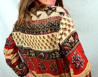 Fun Semi-Sheer Vintage Glitter 80s Metallic Hippie Boho Summer Gauzy Dress
