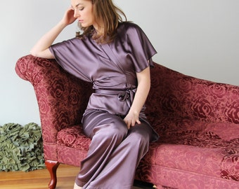 silk bed jacket - ALICE silk charmeuse with spandex bridal range - made to order