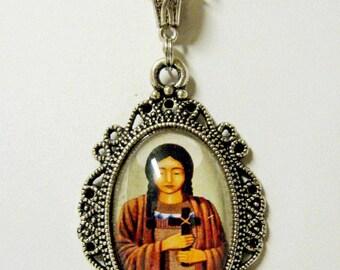 Saint Kateri (Catherine) Tekakwitha pendant with chain - AP04-288