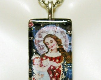 Cusco Madonna pendant with chain - GP09-022