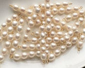 Fresh water pearls - 20x 5 pearls on a gold plated bar