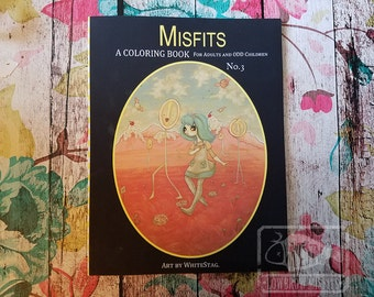 Adult Coloring book Misfits fantasy lowbrow art big eye girls Vol 3