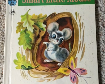 1950 Rand McNally The Smart Little Mouse Tip-top Elf Book Children's Book Kitsch