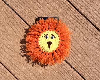 Camera lens buddy.  Lion lens buddy.  Crochet camera critter lion.  Photography prop. Iphone, droid, cell phone case.