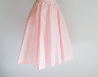 Polished Cotton Full Skirt- Sz S - M