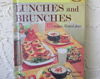 Better Homes and Gardens Lunches and Brunches 1963 Creative Cooking Library Hard Cover Cookbook