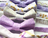 Little and Big Guy BOW TIE - Lavender and Gold Collection - (Newborn-Adult) - Baby Boy Toddler Teen Man - Easter Spring