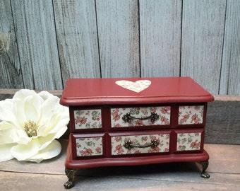 SWEDISH RED Farmhouse Jewelry Box