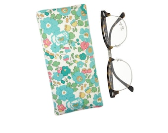 Floral Glasses Pouch, Mothers Day Gift, Reading Glasses Case, Spectacle Holder, Sunglasses Pouch