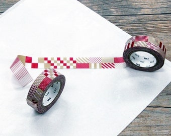 Mix Red, DECO, Japanese mt Washi Paper Masking Tape, Adhesive Tape,  Collage, Wrapping, Card Decoration, Journal Sticker, Planner, MT01D121