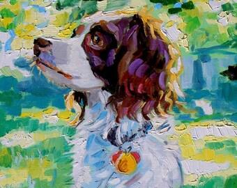 Custom Pet Portrait, oil,  12x12