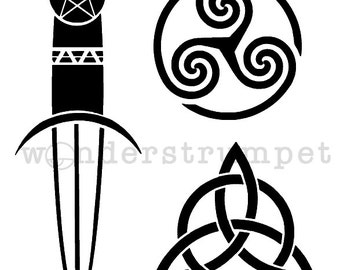 Modern Mystic Stencil Series: Athame