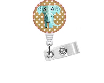 Origami Elephant ID Badge Holder - Badge Reels - Teacher Badge Reel - Nursing Badge - Teacher Badge Reel - Medical Badge - Office Staff