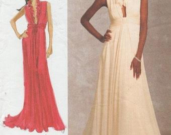 Designer Sewing Pattern By Badgley Mischka / Vogue 1030 / Evening Gown Dress / Sizes 6 8 10 12