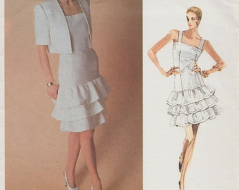 Vogue 2076 / Paris Original / Vintage Designer Sewing Pattern By Givenchy / Dress And Bolero Jacket / Size 16 Bust 38