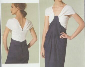 Vogue 1281 / Designer Sewing Pattern By Donna Karan / Dress / Sizes 6 8 10 12 14