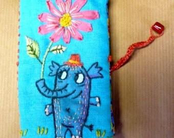 hand embroidered cardholder