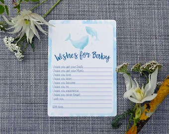 Printable Whale Baby Shower Activity- Wishes for Baby