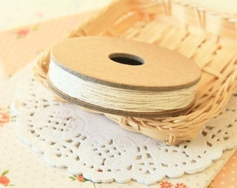 Solid NATURAL Divine Twine 20yd Reel 4-ply cotton bakers twine string