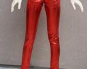 BJD red wet look surface leggins sd, msd, yosd various sizes