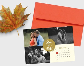 Photo Save the Date with Calendar - Card Stock or Magnet - DEPOSIT