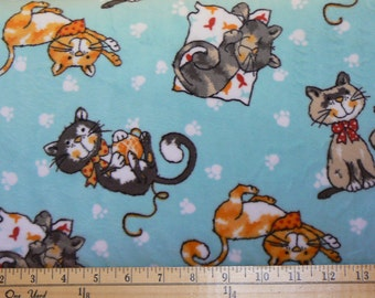 Meow Meow Cuddle Minky Fabric by Shannon Fabrics - 1 yard