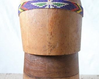c1970's Native American Seed Bead Thunderbird Headband
