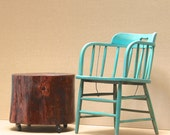 Stump Table Casters Russet Glaze