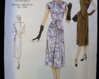 Vogue Vintage Model Pattern V2787, Original 1948 Design, A-Line Dress,  Size 12, 14 and 16,  UC FF